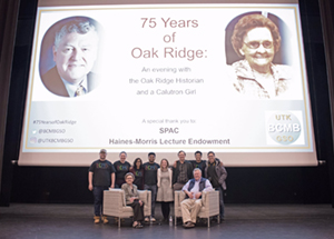 """75 years of Oak Ridge"" featuring the Oak Ridge historian Ray Smith and Ruth Huddleston, a former calutron operator at Y-12"