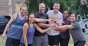 Team J composed of Jonelle Basso, Rosela Golloshi, Gary LeCleir, Frank May, Jared Smith, and Naomi Gilbert won the tournament.